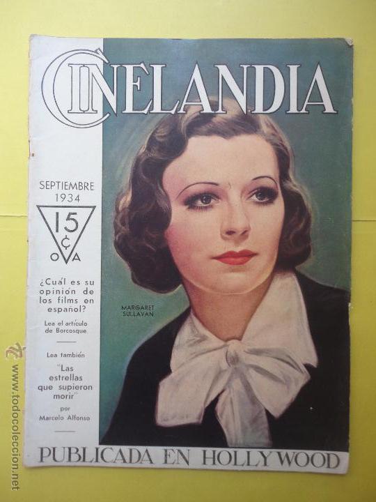 CINELANDIA. TOMO VIII. Nº 9. 1934. (Cine - Revistas - Cinelandia)
