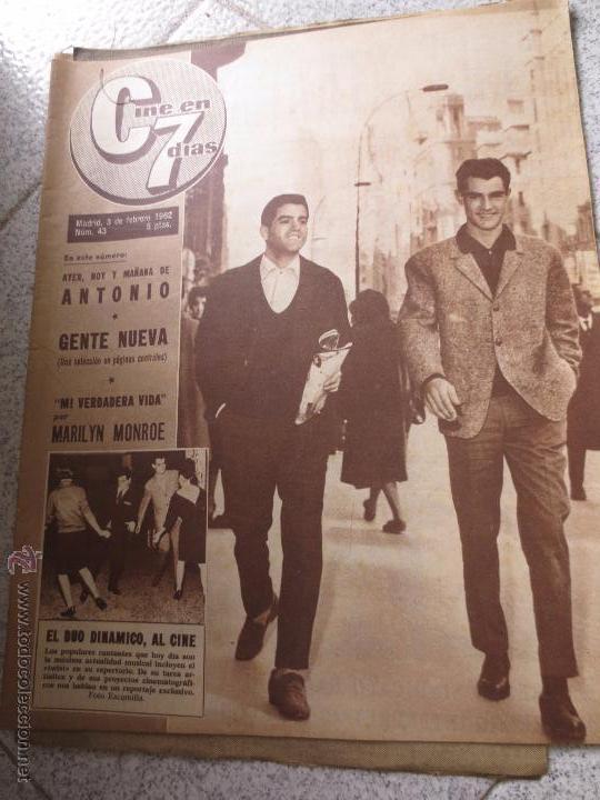 REVISTA CINE EN 7 DIAS Nº 43 3 DE FEBRERO 1962 (Cine - Revistas - Cine en 7 dias)