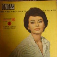 Cine: REVISTA ONDAS 1 SEPTEIMBRE 1959 NUMERO 162. Lote 147268269