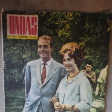 Cinéma: REVISTA ONDAS NUMERO 212 OCTUBRE 1961 SOFIA Y DON JUAN CARLOS. Lote 50778771