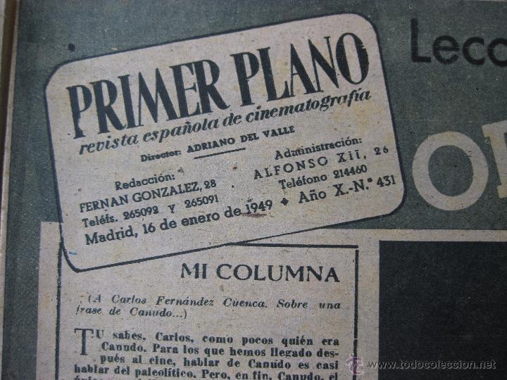 Cine: Revista Primer Plano nº 431. 1950 - Foto 3 - 50784338