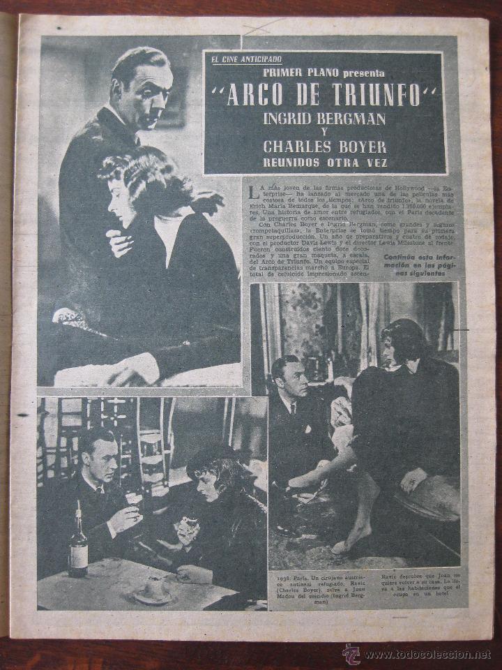 Cine: Revista Primer Plano nº 382. 1948 - Foto 2 - 50784790