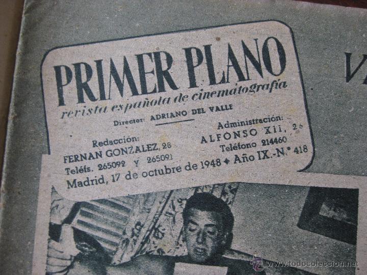 Cine: Revista Primer Plano nº 418. 1948 - Foto 3 - 50785012