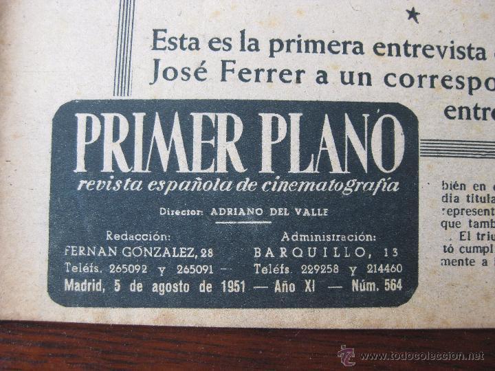 Cine: Revista Primer Plano nº 564. 1949 - Foto 3 - 50785349