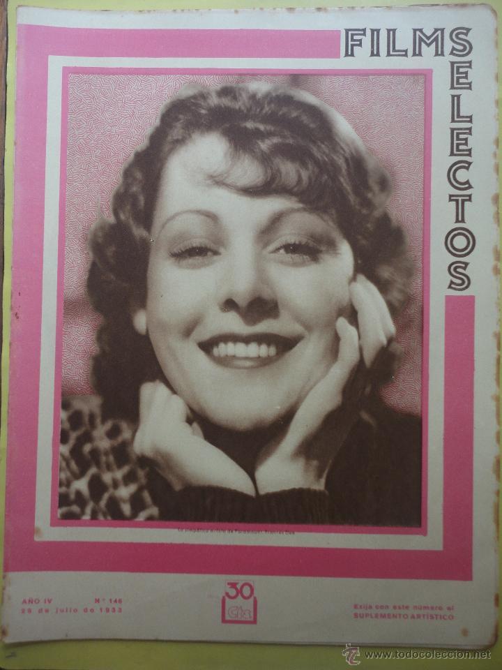 FILMS SELECTOS. AÑO IV. Nº 146. 1933. (Cine - Revistas - Films selectos)