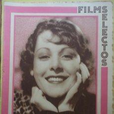 Cine: FILMS SELECTOS. AÑO IV. Nº 146. 1933.. Lote 50819601