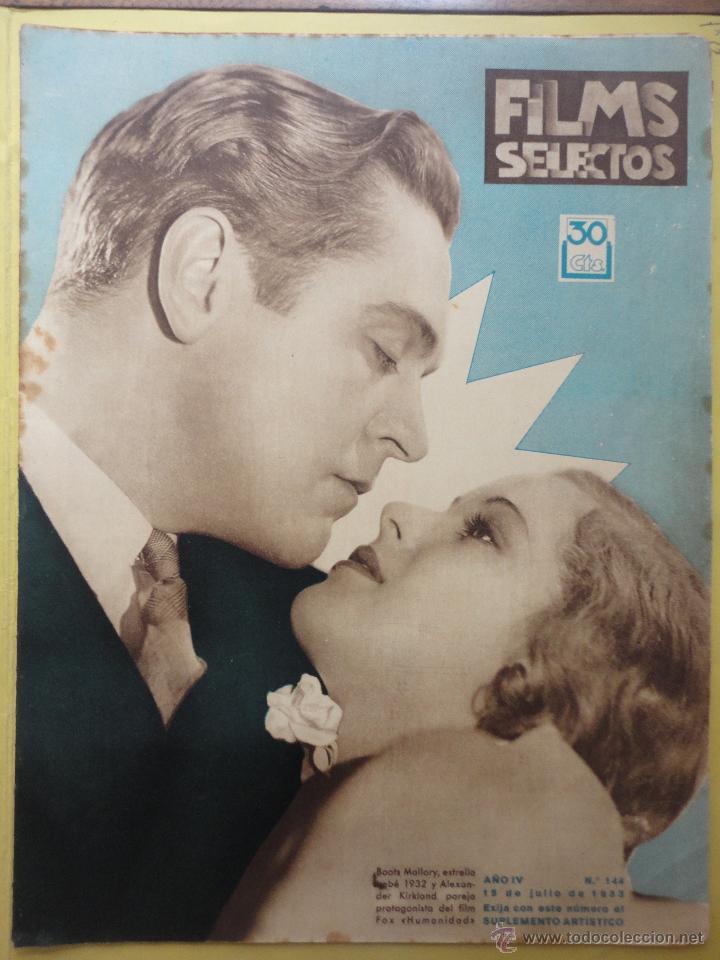 FILMS SELECTOS. AÑO IV. Nº 144. 1933. (Cine - Revistas - Films selectos)