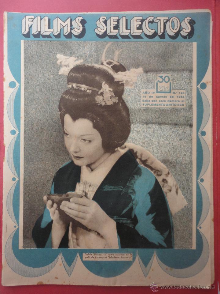FILMS SELECTOS. AÑO IV. Nº 149. 1933. (Cine - Revistas - Films selectos)