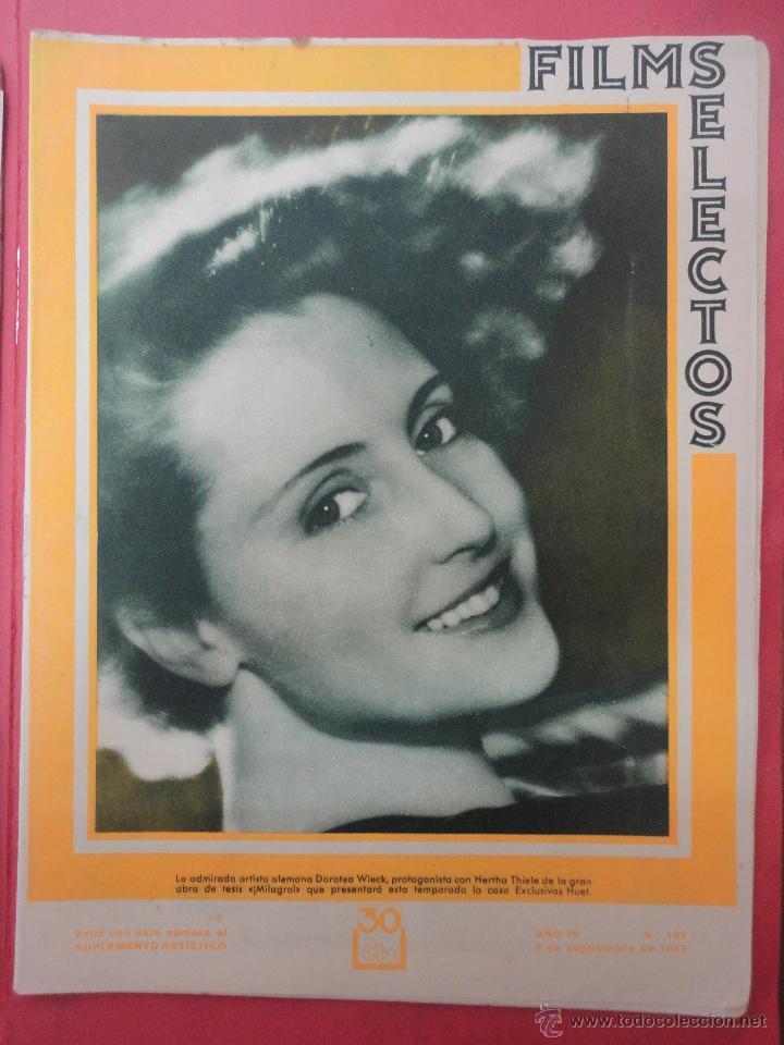 FILMS SELECTOS. AÑO IV. Nº 152. 1933. (Cine - Revistas - Films selectos)