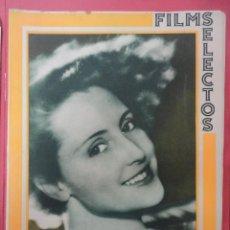 Cine: FILMS SELECTOS. AÑO IV. Nº 152. 1933.. Lote 50819792