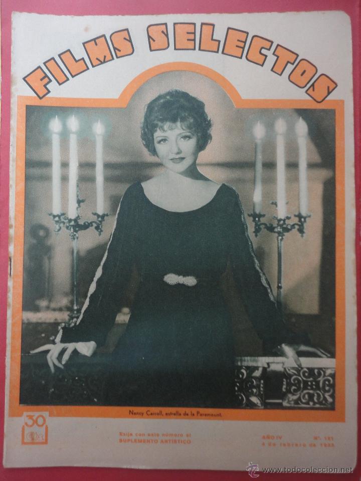FILMS SELECTOS. AÑO IV. Nº 121. 1933. (Cine - Revistas - Films selectos)