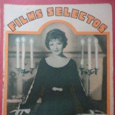 Cine: FILMS SELECTOS. AÑO IV. Nº 121. 1933.. Lote 50819891