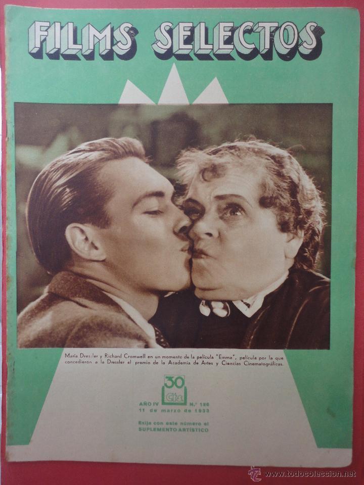 FILMS SELECTOS. AÑO IV. Nº 126. 1933. (Cine - Revistas - Films selectos)