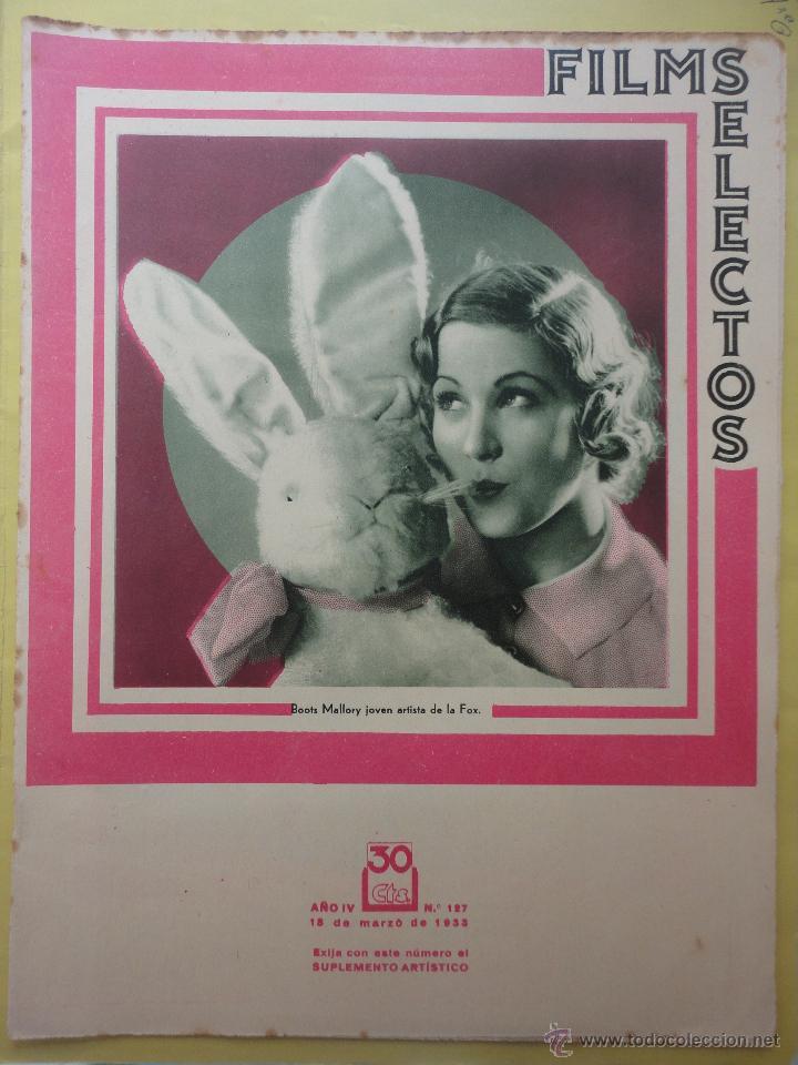 FILMS SELECTOS. AÑO IV. Nº 127. 1933. (Cine - Revistas - Films selectos)