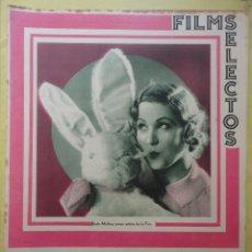 Cine: FILMS SELECTOS. AÑO IV. Nº 127. 1933.. Lote 50820007
