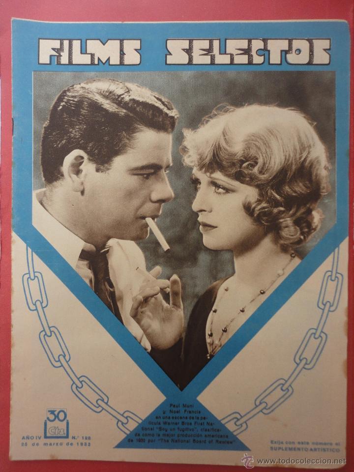 FILMS SELECTOS. AÑO IV. Nº 128. 1933. (Cine - Revistas - Films selectos)