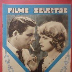 Cine: FILMS SELECTOS. AÑO IV. Nº 128. 1933.. Lote 50820030