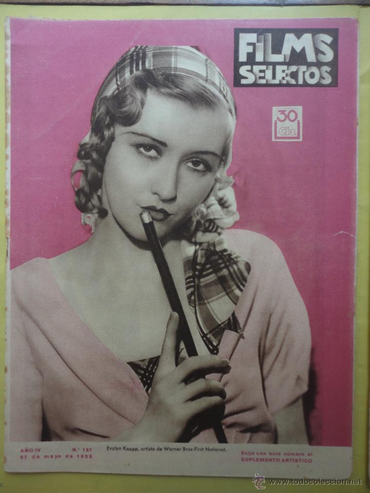 FILMS SELECTOS. AÑO IV. Nº 137. 1933. (Cine - Revistas - Films selectos)
