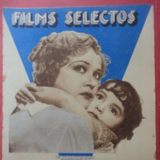 Cine: FILMS SELECTOS. AÑO IV. Nº 136. 1933.. Lote 50820155