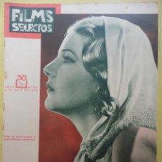 Cine: FILMS SELECTOS. AÑO IV. Nº 138. 1933.. Lote 50820229