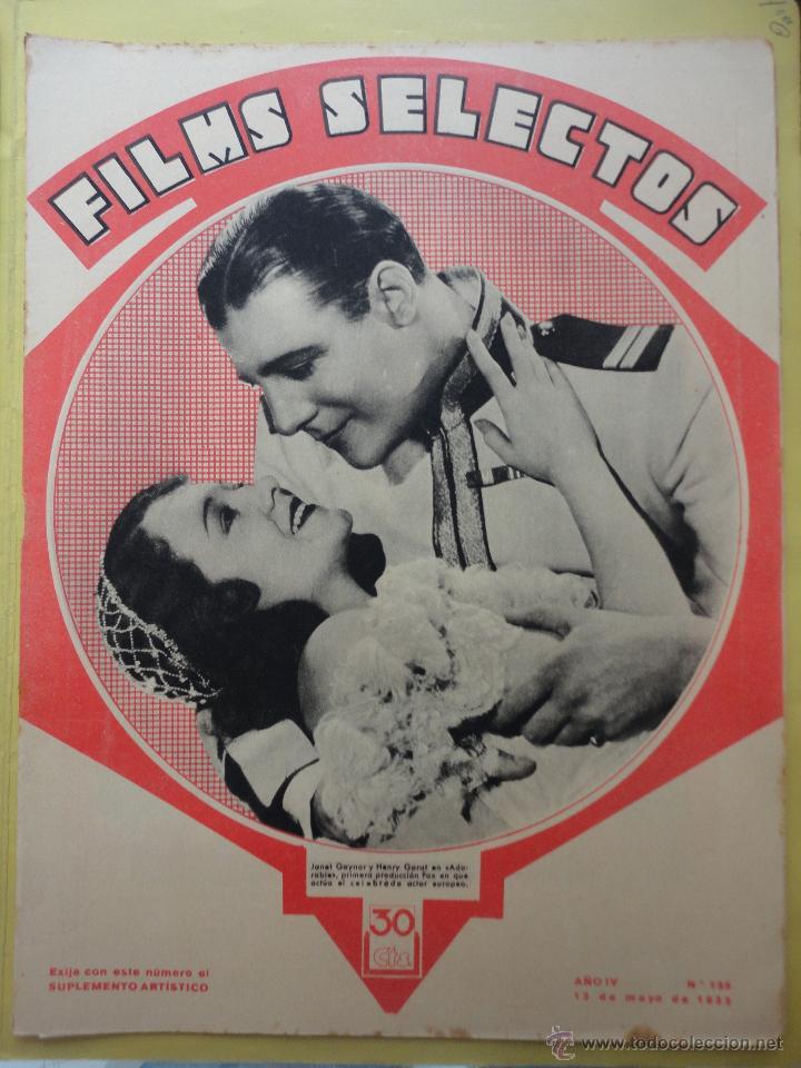 FILMS SELECTOS. AÑO IV. Nº 135. 1933. (Cine - Revistas - Films selectos)