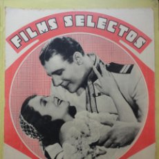 Cine: FILMS SELECTOS. AÑO IV. Nº 135. 1933.. Lote 50820249