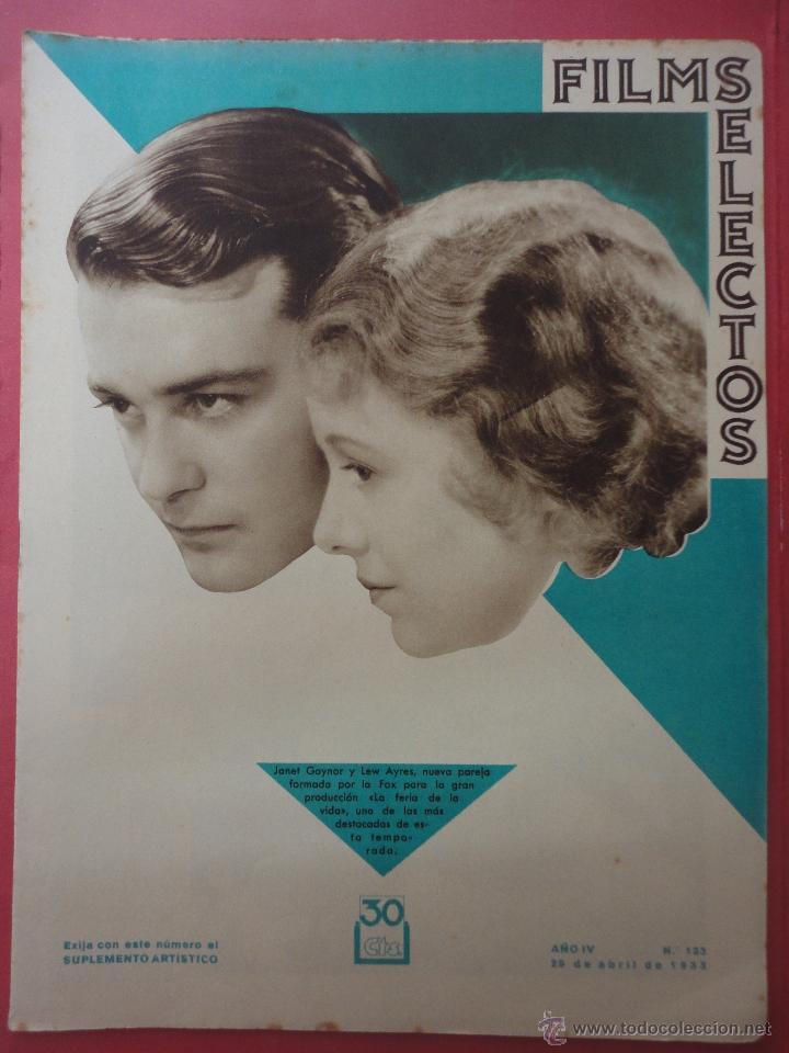 FILMS SELECTOS. AÑO IV. Nº 133. 1933. (Cine - Revistas - Films selectos)