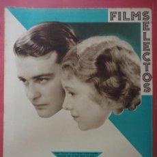 Cine: FILMS SELECTOS. AÑO IV. Nº 133. 1933.. Lote 50820279