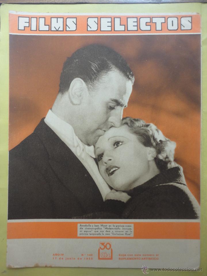 FILMS SELECTOS. AÑO IV. Nº 140. 1933. (Cine - Revistas - Films selectos)