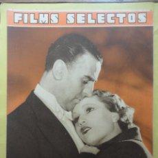 Cine: FILMS SELECTOS. AÑO IV. Nº 140. 1933.. Lote 50820344