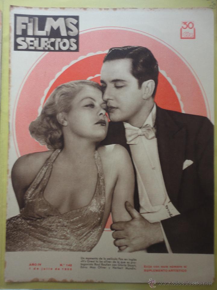 FILMS SELECTOS. AÑO IV. Nº 142. 1933. (Cine - Revistas - Films selectos)