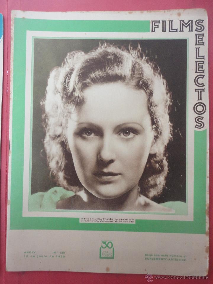 FILMS SELECTOS. AÑO IV. Nº 139. 1933. (Cine - Revistas - Films selectos)
