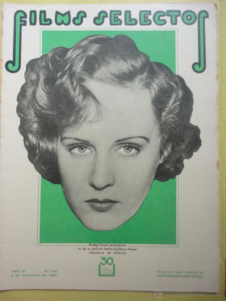 FILMS SELECTOS. AÑO IV. Nº 164. 1933. (Cine - Revistas - Films selectos)