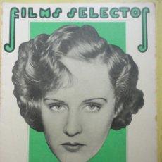 Cine: FILMS SELECTOS. AÑO IV. Nº 164. 1933.. Lote 50851294