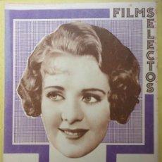 Cine: FILMS SELECTOS. AÑO IV. Nº 165. 1933.. Lote 50851314