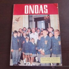 Cinéma: REVISTA ONDAS Nº 308 OCTUBRE, 1965 CARMEN SEVILLA / AUDREY HEPBURN / LOS BRINCOS. Lote 50851900