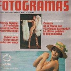 Cine: FOTOGRAMAS Nº 1449 - 23 JULIO 1976 , SHIRLEY TEMPLE, CHRISTA LEEM. Lote 50871950