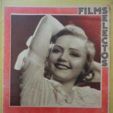 Cine: FILMS SELECTOS. AÑO III. Nº 112. 1932.. Lote 50933334