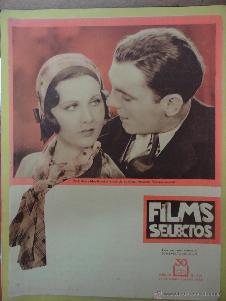 FILMS SELECTOS. AÑO III. Nº 101. 1932. (Cine - Revistas - Films selectos)
