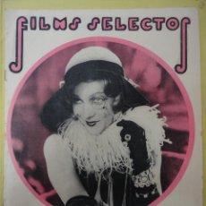 Cine: FILMS SELECTOS. AÑO III. Nº 98. 1932.. Lote 50933521