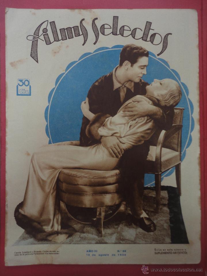 FILMS SELECTOS. AÑO III. Nº 96. 1932. (Cine - Revistas - Films selectos)