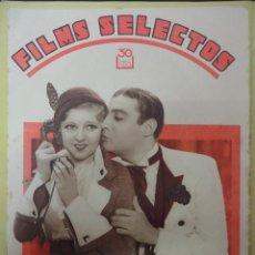 Cine: FILMS SELECTOS. AÑO III. Nº 97. 1932.. Lote 50934322
