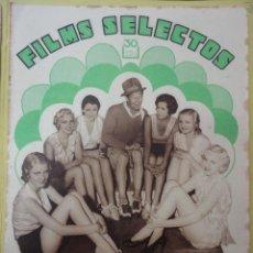 Cine: FILMS SELECTOS. AÑO III. Nº 95. 1932.. Lote 50934497