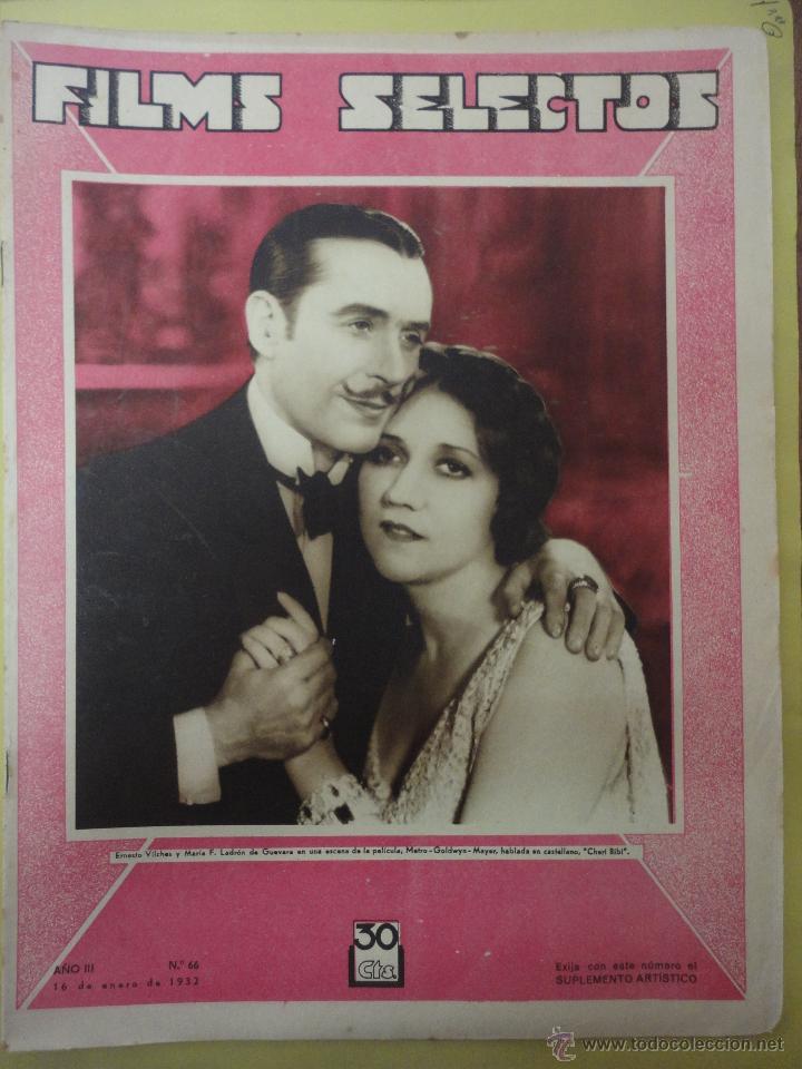 FILMS SELECTOS. AÑO III. Nº 66. 1932. (Cine - Revistas - Films selectos)