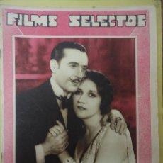Cine: FILMS SELECTOS. AÑO III. Nº 66. 1932.. Lote 50939342