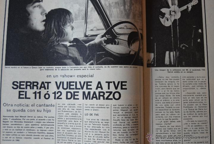 Cine: FOTOGRAMAS Nº 1323 - FEBRERO 1974 - TARZAN - ROCIO DURCAL - RAPHAEL - SERRAT - Foto 6 - 43400351