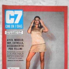 Cine: REVISTA C7 CINE EN 7 DÍAS - Nº 386 - 1968 - ELIZABETH TESSIER, MARISOL, PAQUITA RICO, LUCIANA WOLF. Lote 51242924
