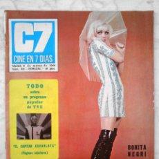Cine: REVISTA C7 CINE EN 7 DÍAS - Nº 413 - 1969 - BONITA NEGRI, RAPHAEL, EL CAPITÁN ESCARLATA, MARISOL. Lote 51224699