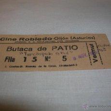 Cine: ENTRADA CINE ROBLEDO GIJÓN ASTURIAS . Lote 51228007