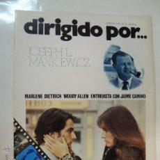 Cine: REVISTA DIRIGIDO POR Nº 10 FEBRERO 1974 JOSEPH L MANKIEWICZ LA NOCHE AMERICANA JAIME CAMINO W ALLEN. Lote 51375015
